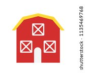 barn icon vector isolated on... | Shutterstock .eps vector #1135469768