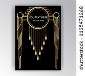 art deco template golden black  ... | Shutterstock .eps vector #1135471268