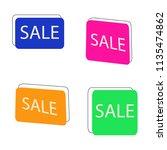 vector hand drawn set sale... | Shutterstock .eps vector #1135474862