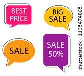 vector hand drawn speech... | Shutterstock .eps vector #1135474865
