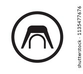 tunnel sign icon vector... | Shutterstock .eps vector #1135477676