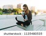 photo of a freelancer female... | Shutterstock . vector #1135480535