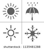 weather icons for weather... | Shutterstock .eps vector #1135481288