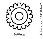 settings icon vector isolated... | Shutterstock .eps vector #1135481672