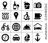 vector travel icons  vacation... | Shutterstock .eps vector #1135483262