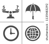 vector delivery icons set.... | Shutterstock .eps vector #1135483292