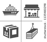 vector delivery icons set.... | Shutterstock .eps vector #1135483298