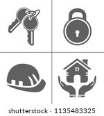 security icons  vector... | Shutterstock .eps vector #1135483325