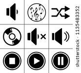sound music icons set   audio... | Shutterstock .eps vector #1135483352