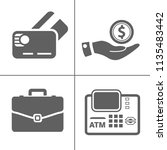 investment icons  business... | Shutterstock .eps vector #1135483442