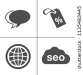 internet marketing icons   seo  ... | Shutterstock .eps vector #1135483445