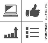 internet marketing icons   seo  ... | Shutterstock .eps vector #1135483448