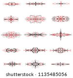 ornate symmetrical divider... | Shutterstock .eps vector #1135485056