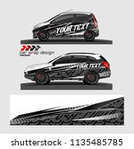 vehicle graphic kit. abstract... | Shutterstock .eps vector #1135485785