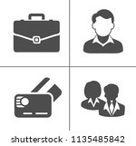 vector business office icons... | Shutterstock .eps vector #1135485842