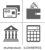 bank and finance icons set ... | Shutterstock .eps vector #1135485932