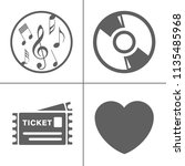 vector entertainment icons set  ... | Shutterstock .eps vector #1135485968