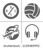 vector entertainment icons set  ... | Shutterstock .eps vector #1135485992