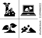 energy and ecology icons ... | Shutterstock .eps vector #1135486022