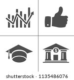 vector business office icons... | Shutterstock .eps vector #1135486076
