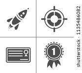 vector business office icons... | Shutterstock .eps vector #1135486082