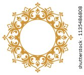 decorative frame. elegant... | Shutterstock . vector #1135486808