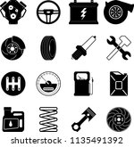 vector images of icons on car... | Shutterstock .eps vector #1135491392