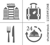 hotel icons   traveling ... | Shutterstock .eps vector #1135491548