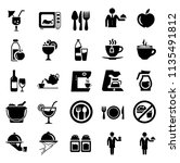 food and beverage icons ... | Shutterstock .eps vector #1135491812