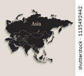 asia map black blackboard...   Shutterstock .eps vector #1135492442