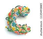 3d rendering of plasticine... | Shutterstock . vector #1135493885