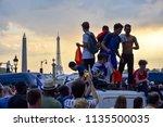 paris  france   july 15  2018   ... | Shutterstock . vector #1135500035