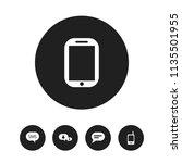 set of 5 editable phone icons....