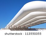 industrial pipe with gas and... | Shutterstock . vector #113550355