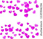 wedding confetti with pink... | Shutterstock .eps vector #1135506236