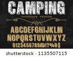 vintage font typeface... | Shutterstock .eps vector #1135507115