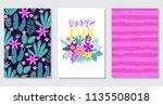 summer card design. exotic... | Shutterstock .eps vector #1135508018