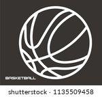 basketball vector icon | Shutterstock .eps vector #1135509458