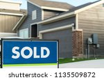 sold. real estate housing... | Shutterstock . vector #1135509872
