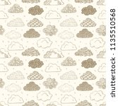 seamless background with beige... | Shutterstock .eps vector #1135510568