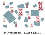 casino playing cards are... | Shutterstock .eps vector #1135513118