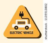 electric vehicle vector logo ... | Shutterstock .eps vector #1135513802