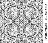 monochrome seamless tile... | Shutterstock . vector #1135515215