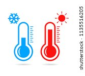 hot and cold temperature vector ... | Shutterstock .eps vector #1135516205