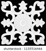 3d illustration stucco... | Shutterstock . vector #1135516466