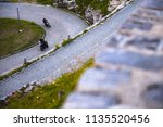 motorbike on the road riding.... | Shutterstock . vector #1135520456
