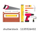 set of building tools repair.... | Shutterstock .eps vector #1135526432