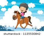 vector illustration ofchild... | Shutterstock .eps vector #1135530842