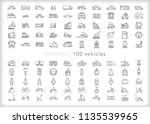 set of 100 vehicle icons for... | Shutterstock .eps vector #1135539965