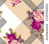 flowers pattern. for textile ... | Shutterstock . vector #1135540052